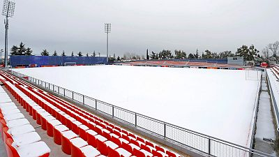 Atlético-Athletic y Osasuna-Real Madrid, en riesgo de suspensión por la nieve