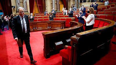 """El Parlament catalán no reconoce """"como legítima"""" la inhabilitación de Torra"""