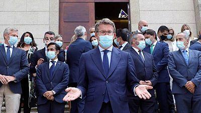 El Parlamento gallego inicia la XI legislatura, marcada por el dolor del coronavirus