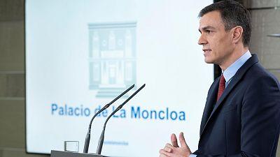 """Sánchez declara el estado de alarma para afrontar con la """"máxima agilidad y contundencia"""" el coronavirus"""