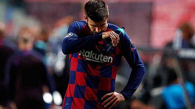 """Piqué, tras la goleada bávara: """"Es una vergüenza, el club necesita cambios estructurales"""""""