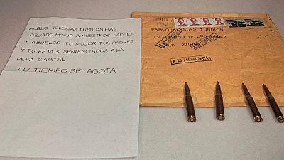 La policía apunta a un mismo autor en las amenazas de muerte enviadas a Iglesias, Marlaska y Gámez