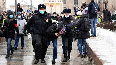 """Las protestas en apoyo a Navalny, la """"gran pesadilla"""" de Putin"""