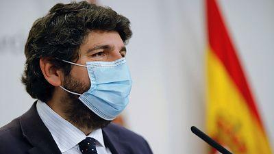 """López Miras cesa a todos los consejeros de Cs de Murcia por su """"traición"""" con la moción de censura"""