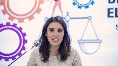 """Irene Montero denuncia la """"criminalización"""" del movimiento feminista ante el 8M"""