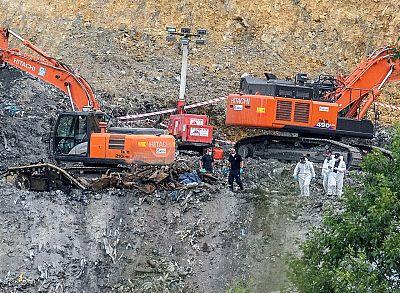 Se localizan nuevos restos óseos humanos en el vertedero de Zaldibar