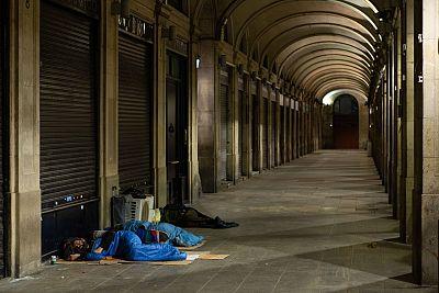El invierno y la segunda ola ponen contra las cuerdas a las personas sin hogar