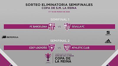 Barcelona - Sevilla y Logroño - Athletic Club, duelos de semifinales de la Copa de la Reina