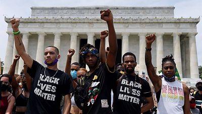 Washington retumba contra el racismo con la mayor protesta desde la muerte de George Floyd