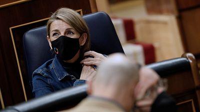 Yolanda Díaz niega que haya colapso en el pago de los ERTE