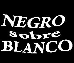Logotipo de 'Negro sobre blanco'