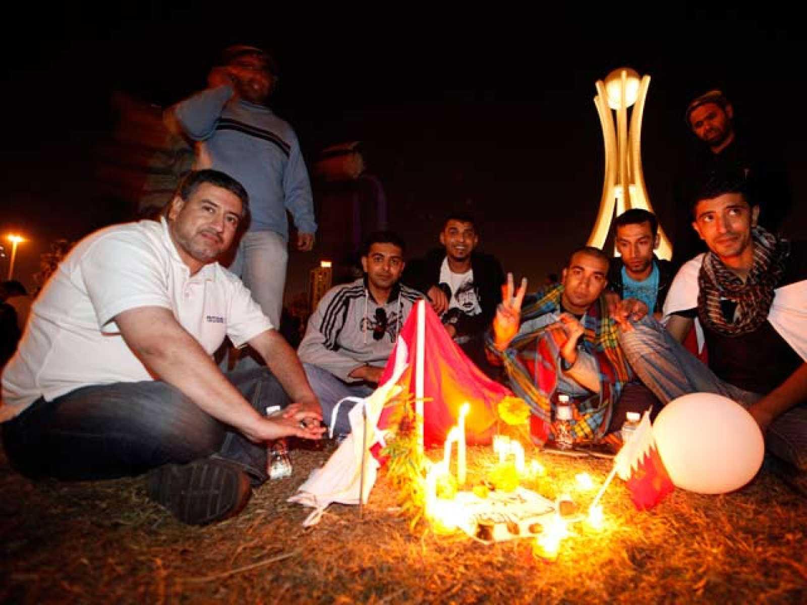 Las protestas en Barhéim han seguido este sábado