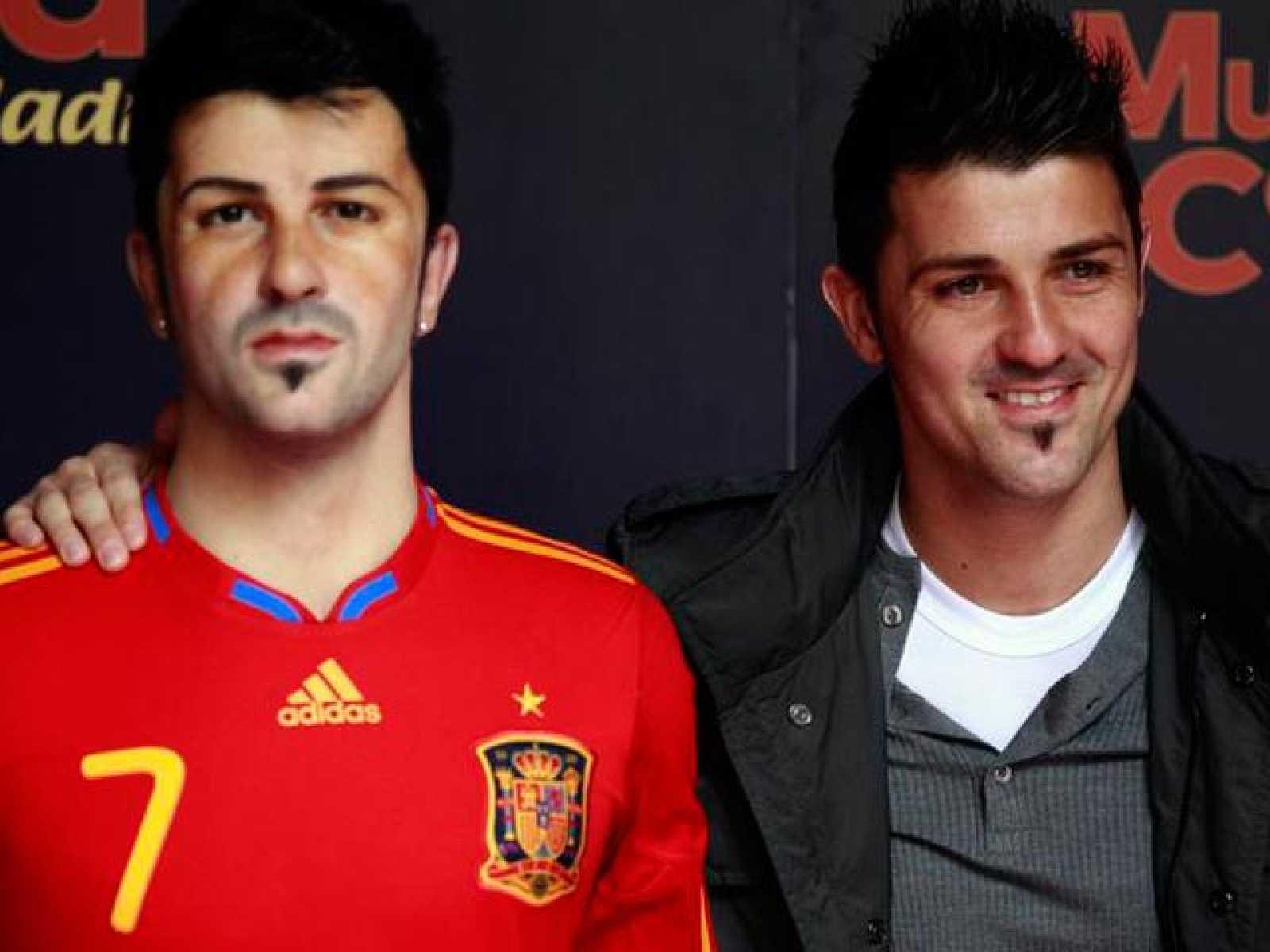 Los dos futbolistas han acudido a la inauguración de sus dobles de cera en Madrid para después integrarse en la concentración de la selección española, que prepara su próximo compromiso contra la República Checa