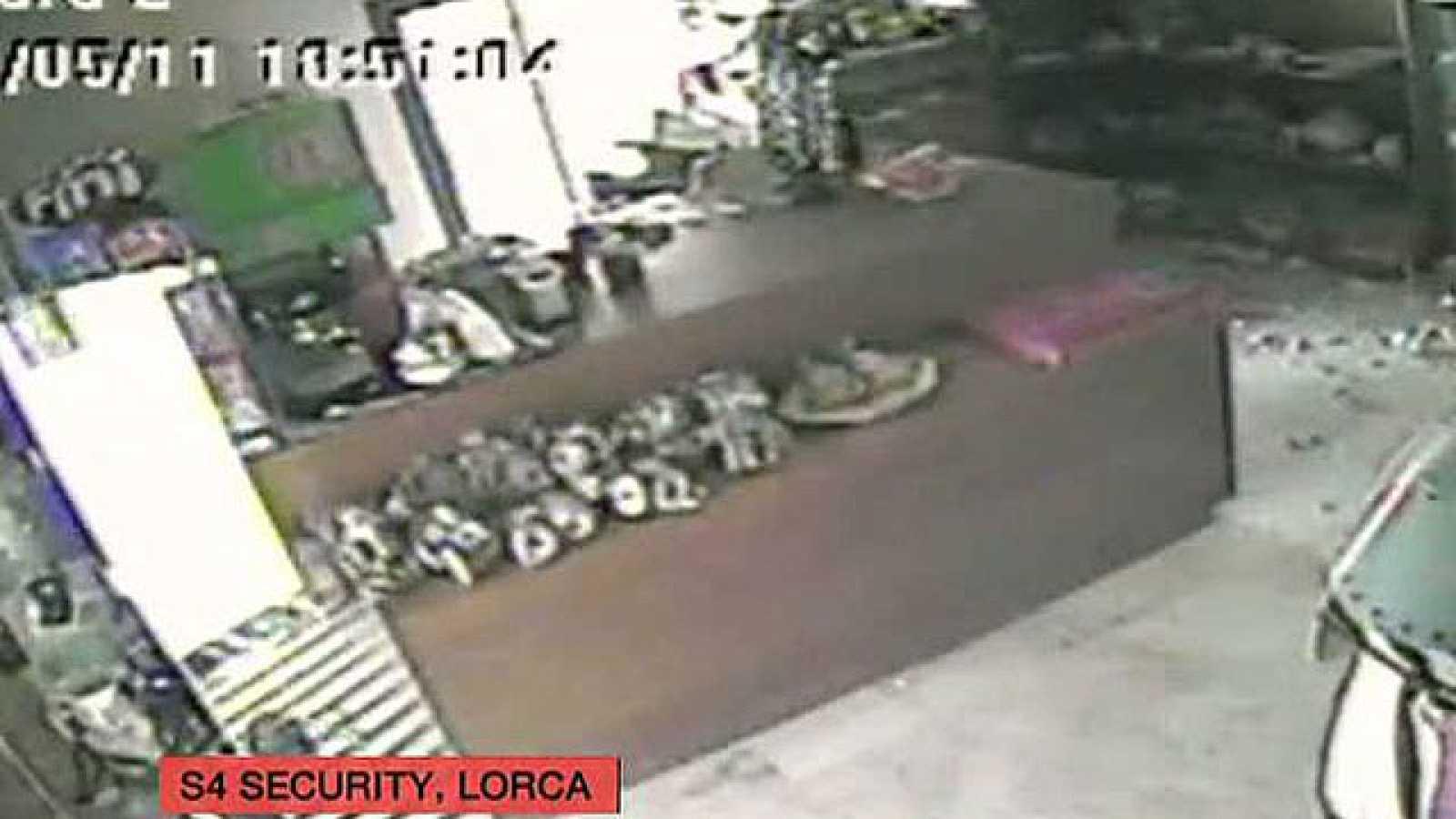 Una cámara de seguridad capta el terremoto de Lorca