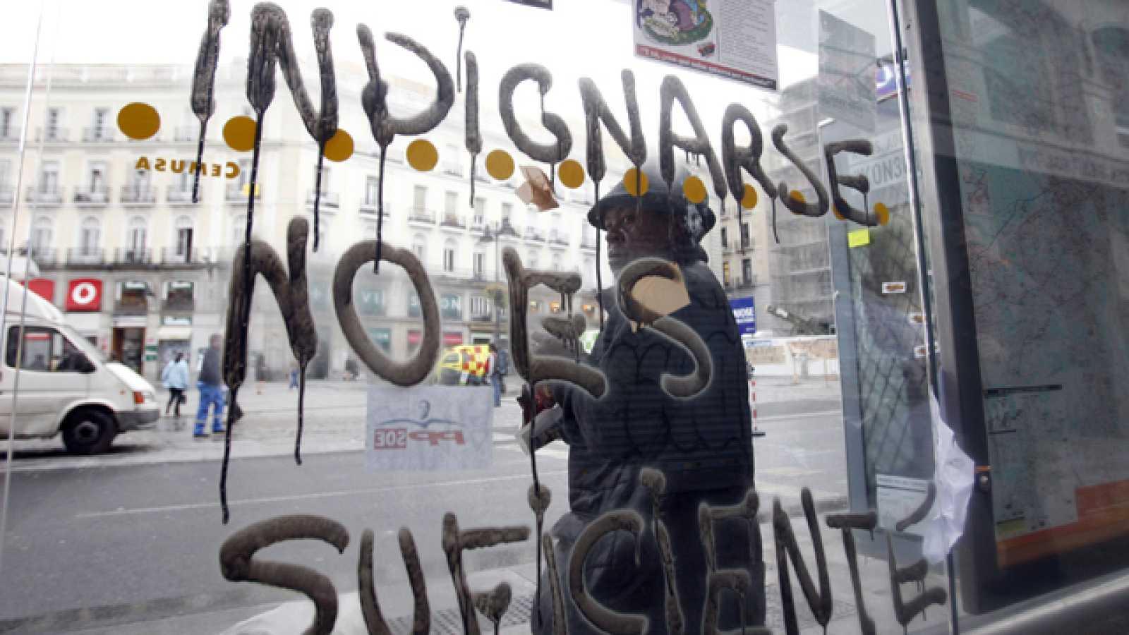 La Junta Electoral Central estudia si la acampada del 15-M interfiere en la campaña