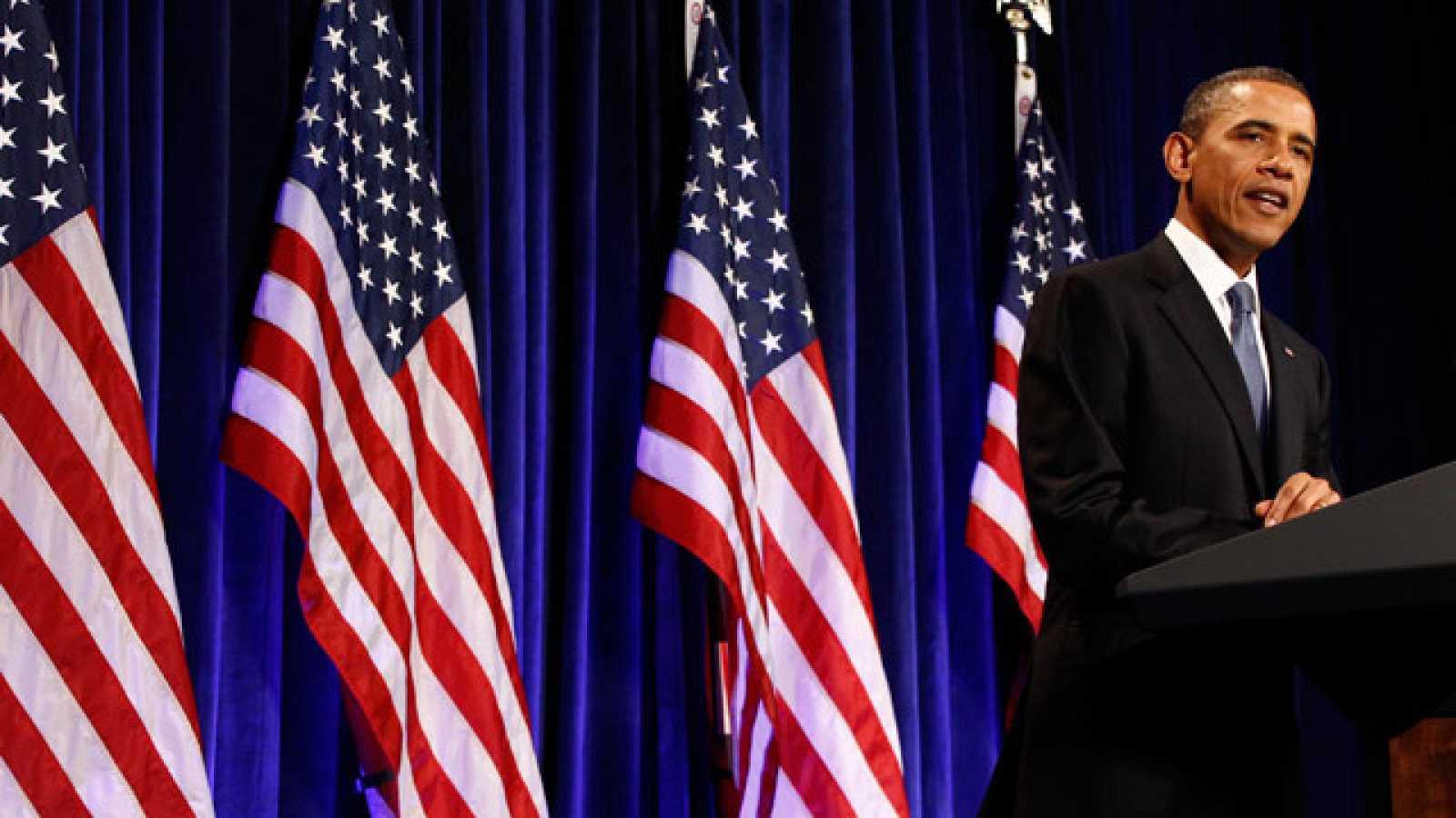 """Barack Obama habla de un acuerdo entre israelíes y palestinos """"basado"""" en las fronteras de 1967 pero con concesiones de paz por territorios"""