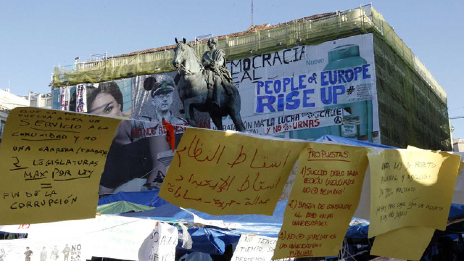 En la Puerta del Sol, siguen los concentrados