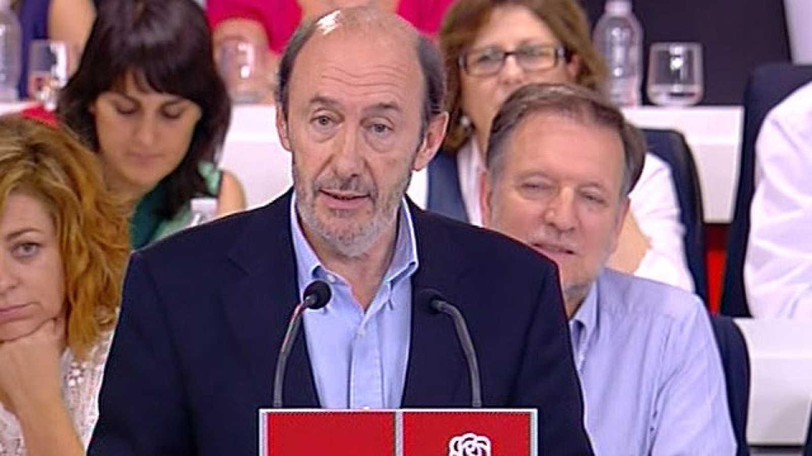 Rubalcaba será proclamado candidato del PSOE a las generales el 18 de junio