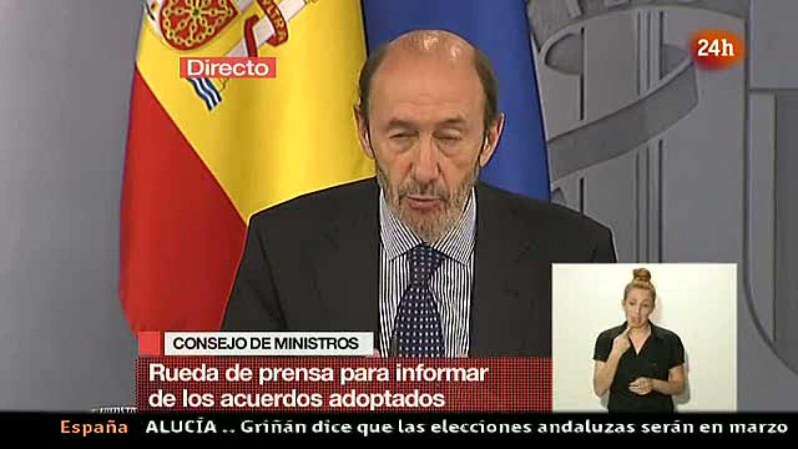 """Rubalcaba advierte que la """"prudencia"""" de la Policía se transformará en """"firmeza"""" si hay violencia en el 15M"""