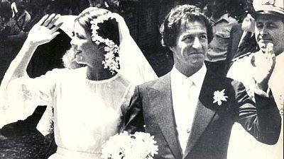 Carolina de Mónaco y Philippe Junot