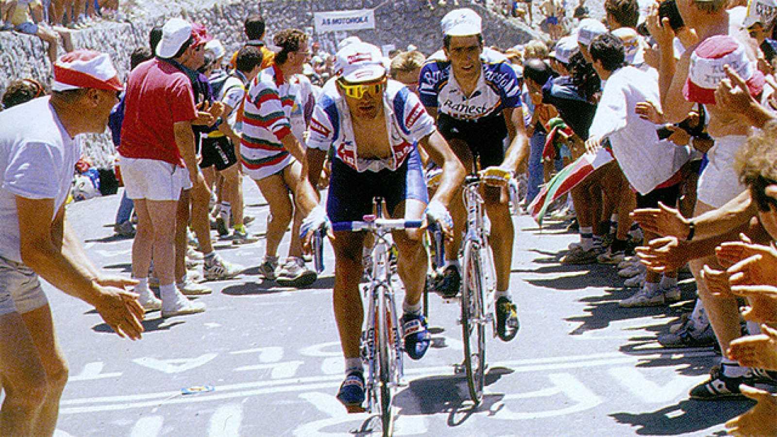 Miguel presentó su candidatura al batir a Lemond en la primera contrarreloj larga del Tour del 91, 73 km en torno a la localidad de Alençon. En la etapa reina de los Pirineos fue parte del reducido grupo de corredores favoritos a la victoria final. E