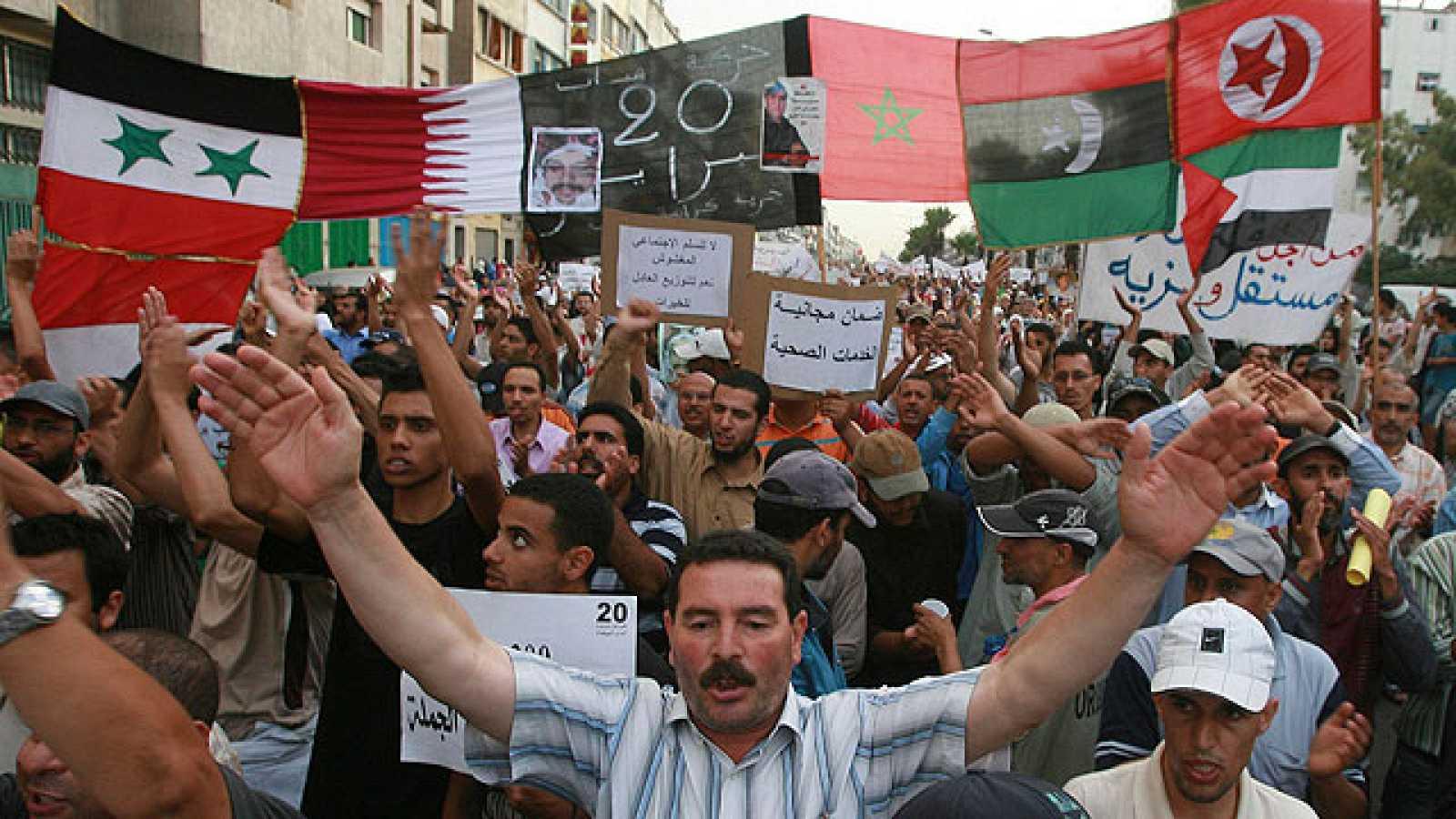 El movimiento 20 de Febrero ha vuelto a expresar este domingo su rechazo a la nueva Constitución.