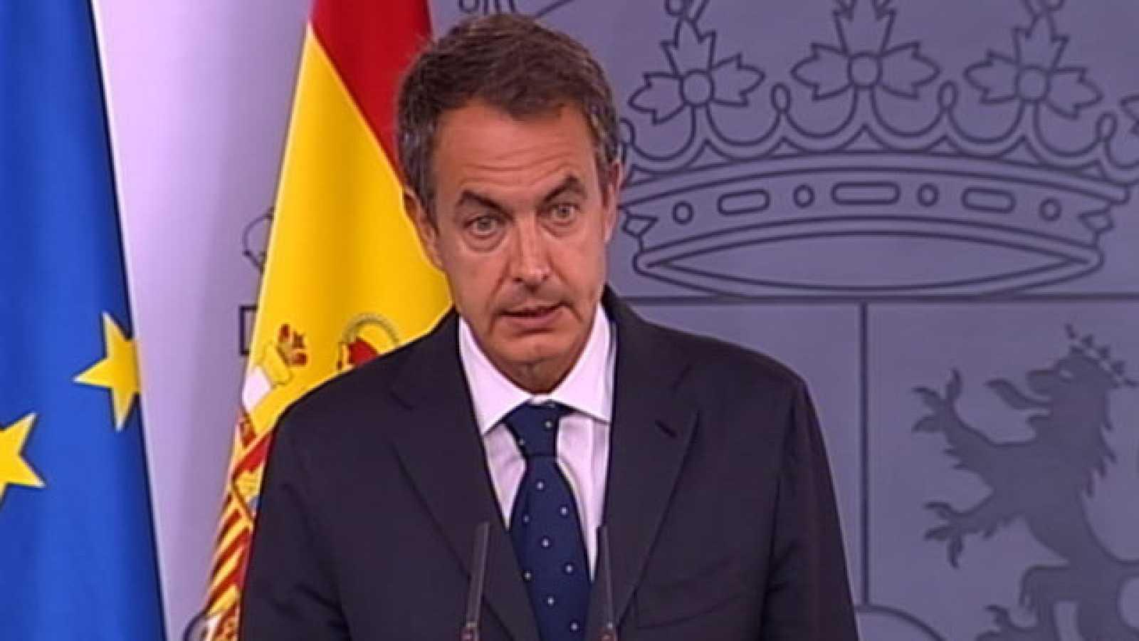 """Zapatero pide """"una respuesta europea"""" ante la presión de los mercados"""
