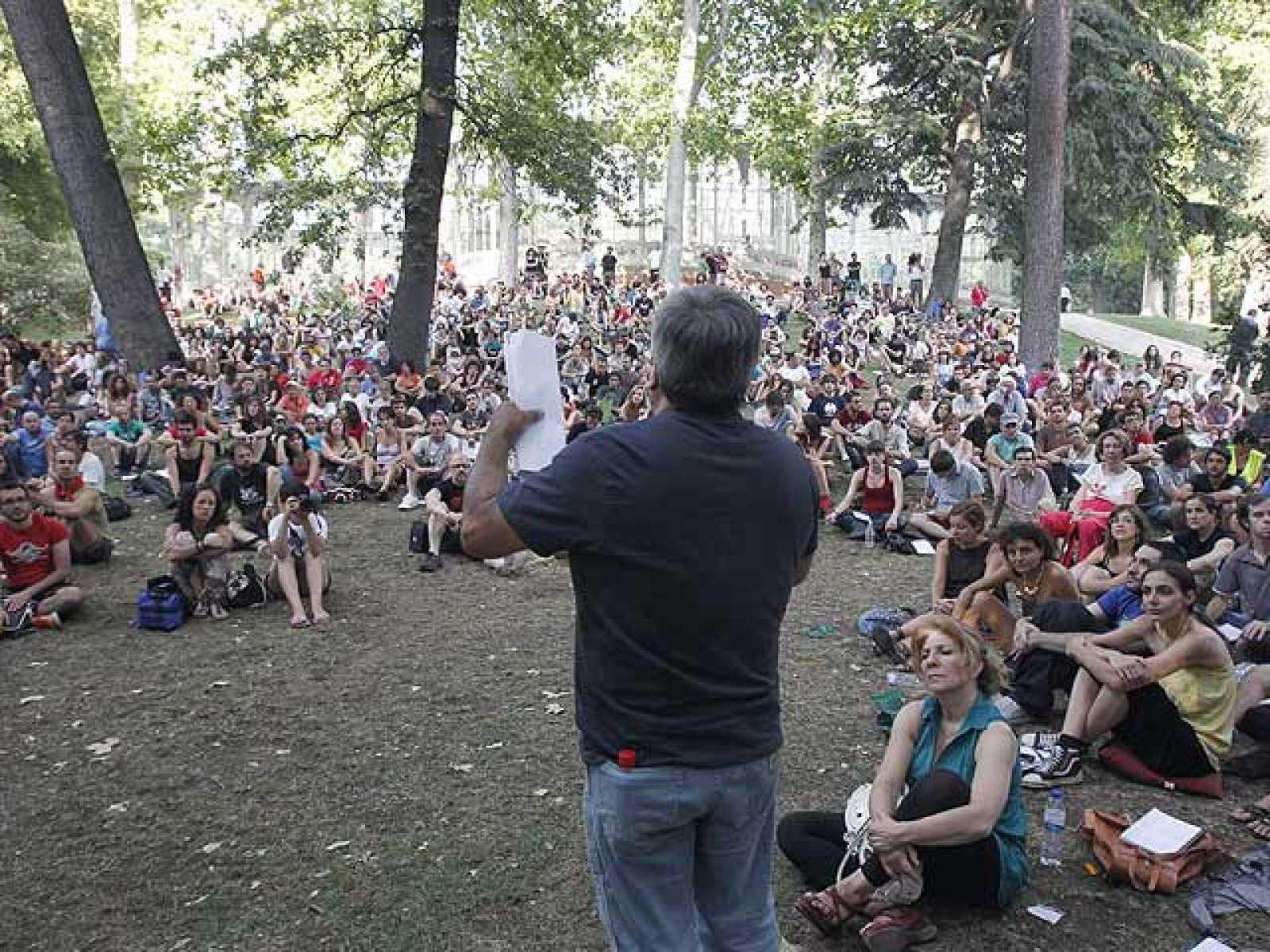 Los 'indignados' seguirán con sus movilizaciones hasta Bruselas
