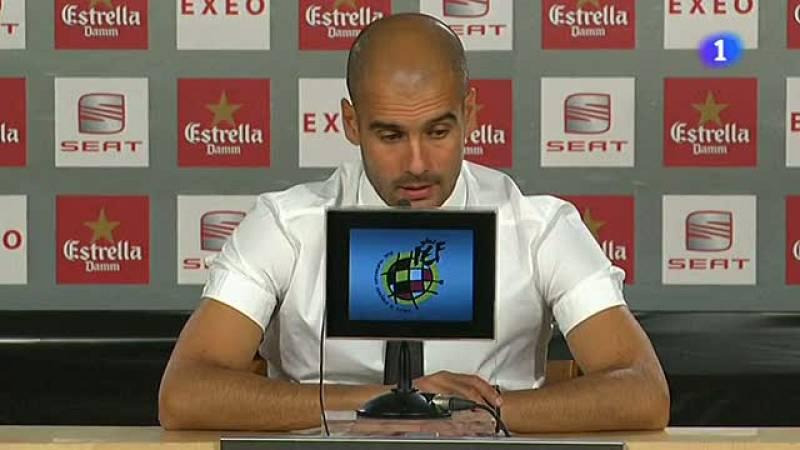 El técnico del Barça se ha mostrado contento con el partido de su equipo en el partido de ida de la Supercopa, que ha terminado en empate a dos