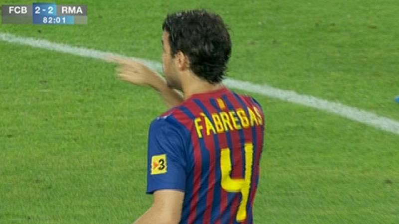 Cesc debuta con el Barça