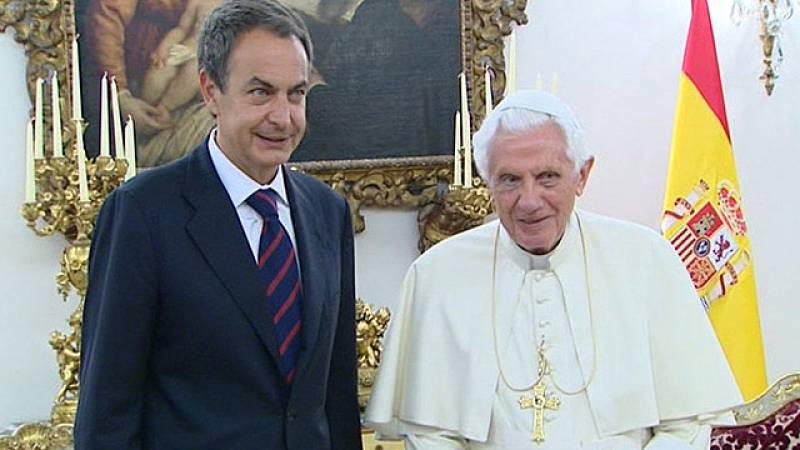 El papa recibe a Zapatero en la Nunciatura