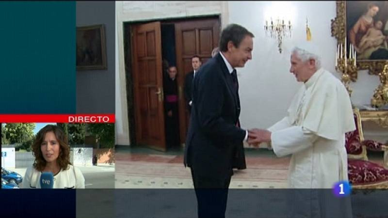 Especial informativo - Visita de S.S. el Papa Benedicto XVI - Encuentro con el presidente del Gobierno - 19/08/11 - Ver ahora