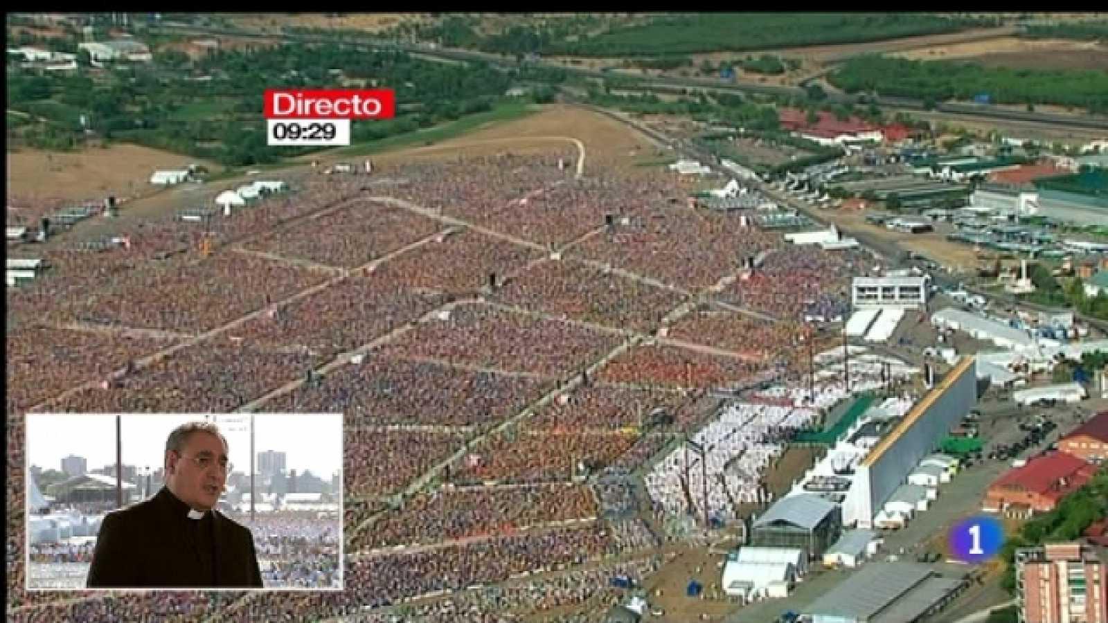 Especial informativo - Visita de S.S. el Papa Benedicto XVI - Llegada de Benedicto XVI a Cuatro Vientos - 21/08/11 - Ver ahora