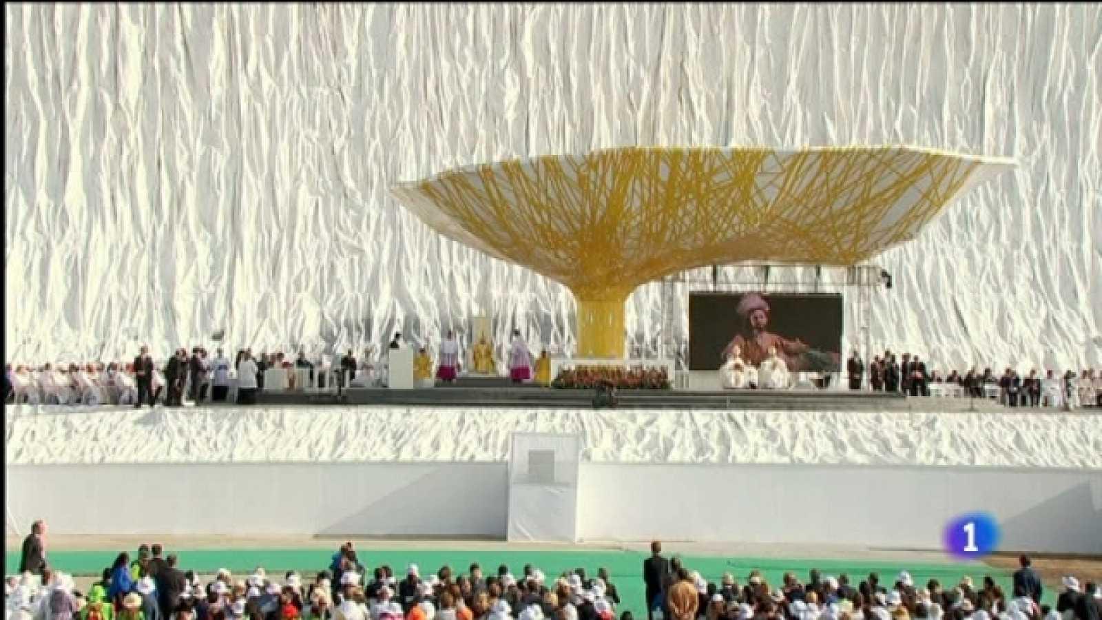 El día del señor - Especial visita S.S. el Papa Benedicto XVI - Misa desde el aeródromo de Cuatro Vientos - 21/08/11 - Primera parte -  21/08/11 - Ver ahora