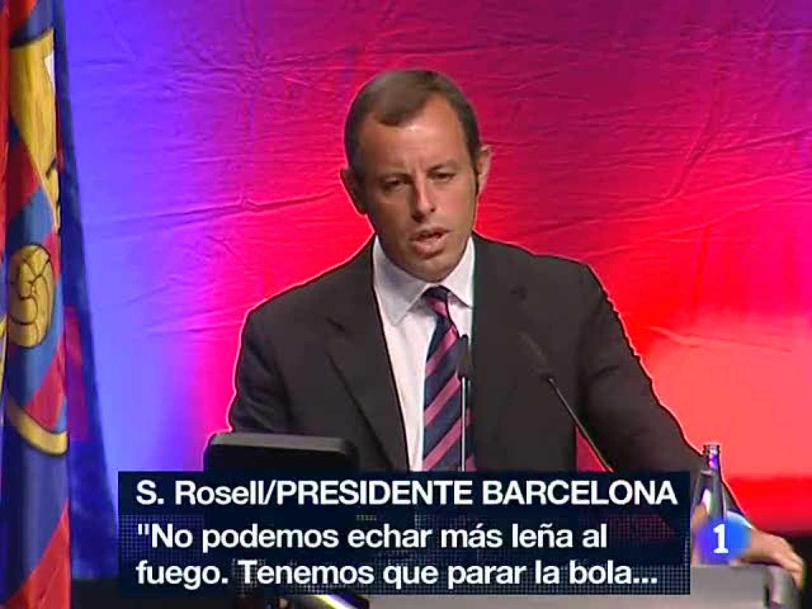 Enésimo epílogo a los incidentes de la Supercopa de España entre el Barça y el Real Madrid. El presidente barcelonista Sandro Rosell ha dejado clara la postura de su club en los hechos y ha hecho un nuevo llamamiento a la cordura.