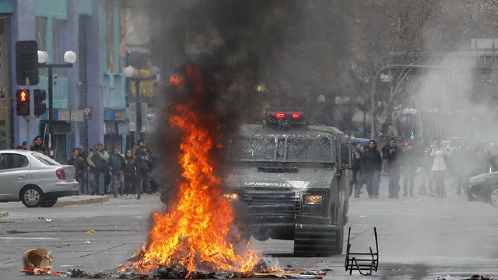 Segundo día de huelga en Chile tras los disturbios de la primera jornada