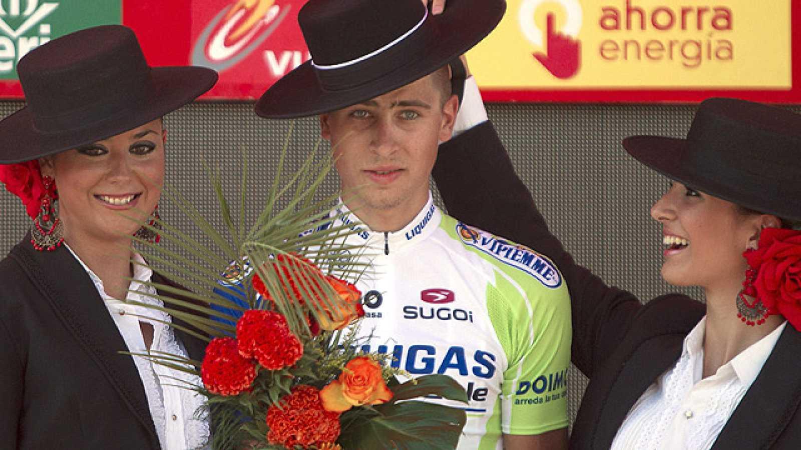 El corredor del Liquigas Peter Sagan ha ganado la sexta etapa de la Vuelta a España con final en Córdoba, gracias al gran trabajo de su equipo, el Liquigas.