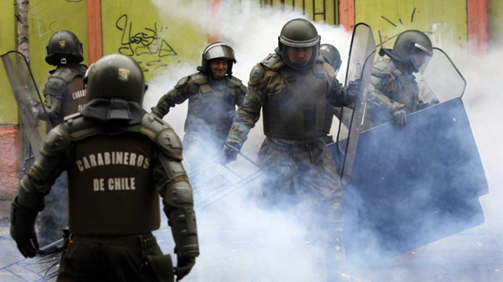 Un joven de 14 años muere de un disparo en las manifestaciones de Chile
