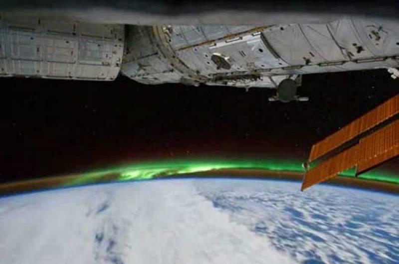 La ISS capta la aurora austral desde el espacio