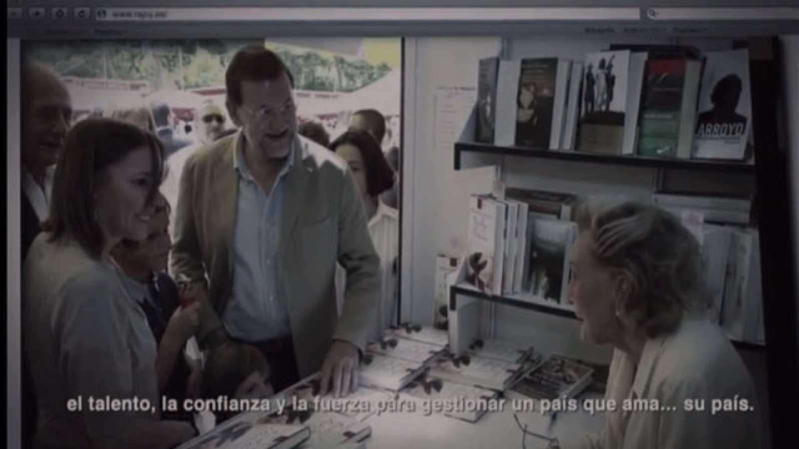 Mapa independentista de Galicia en el último video de presentación de Rajoy
