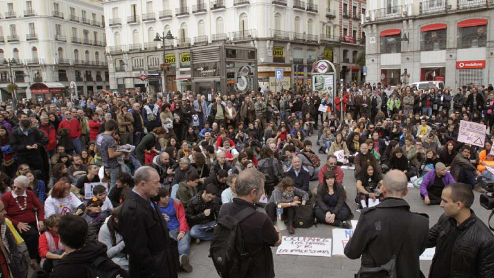 En Madrid, el movimiento 15M ha vuelto a salir a la calle