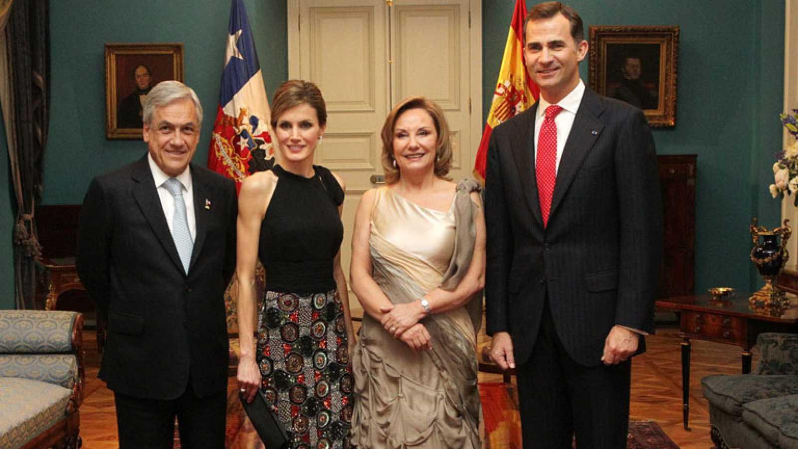 Segundo día de la visita oficial de los Príncipes de Asturias en Chile