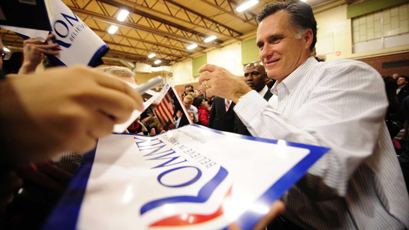 Mitt Romney, favorito en las primarias republicanas de New Hampshire