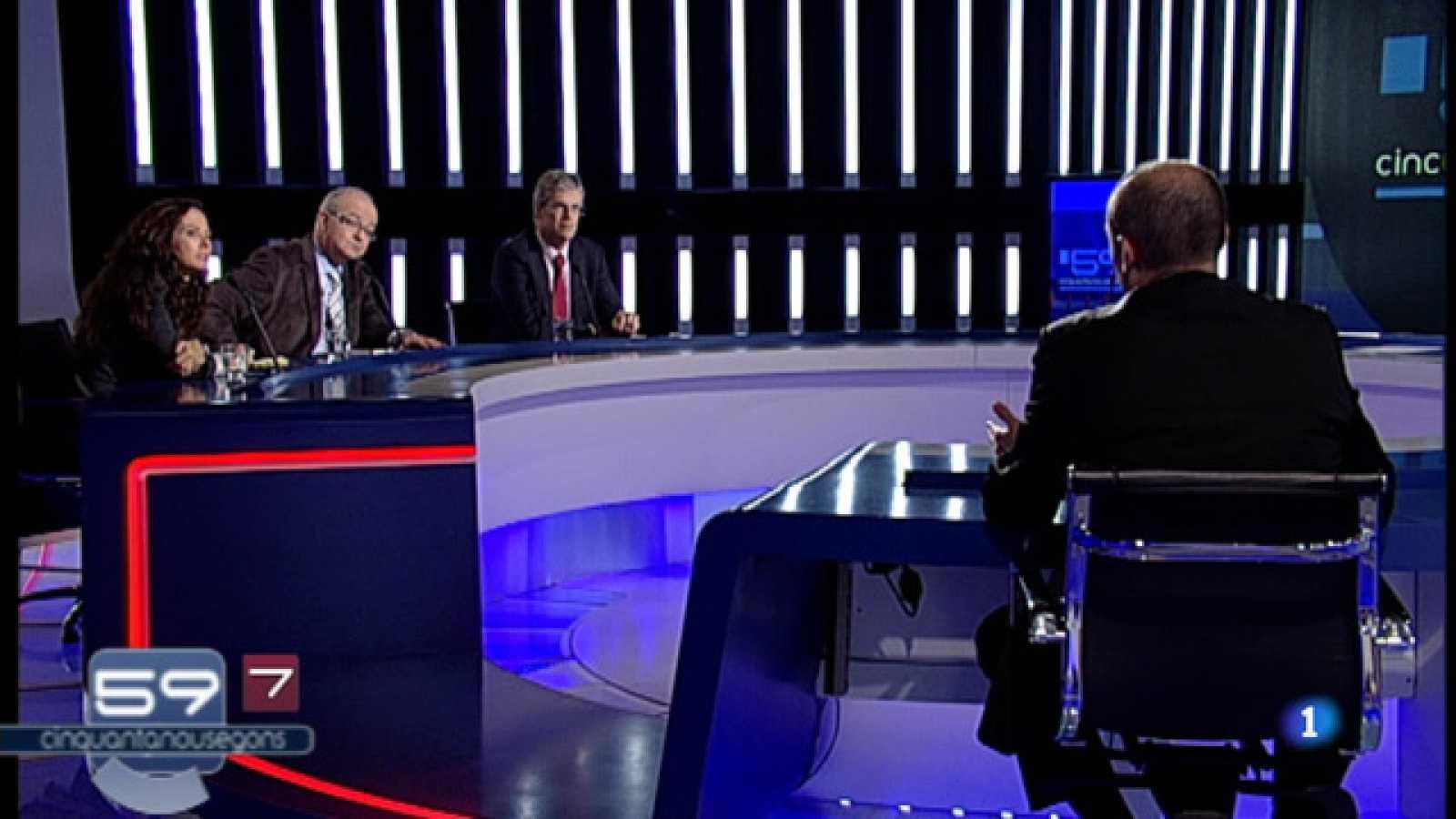 """A la segona part """"59 segons"""" també analitzarà la resta de l'actualitat política i social, fent especial esment a la presentació de la candidatura de Carme Chacón per liderar el PSOE"""