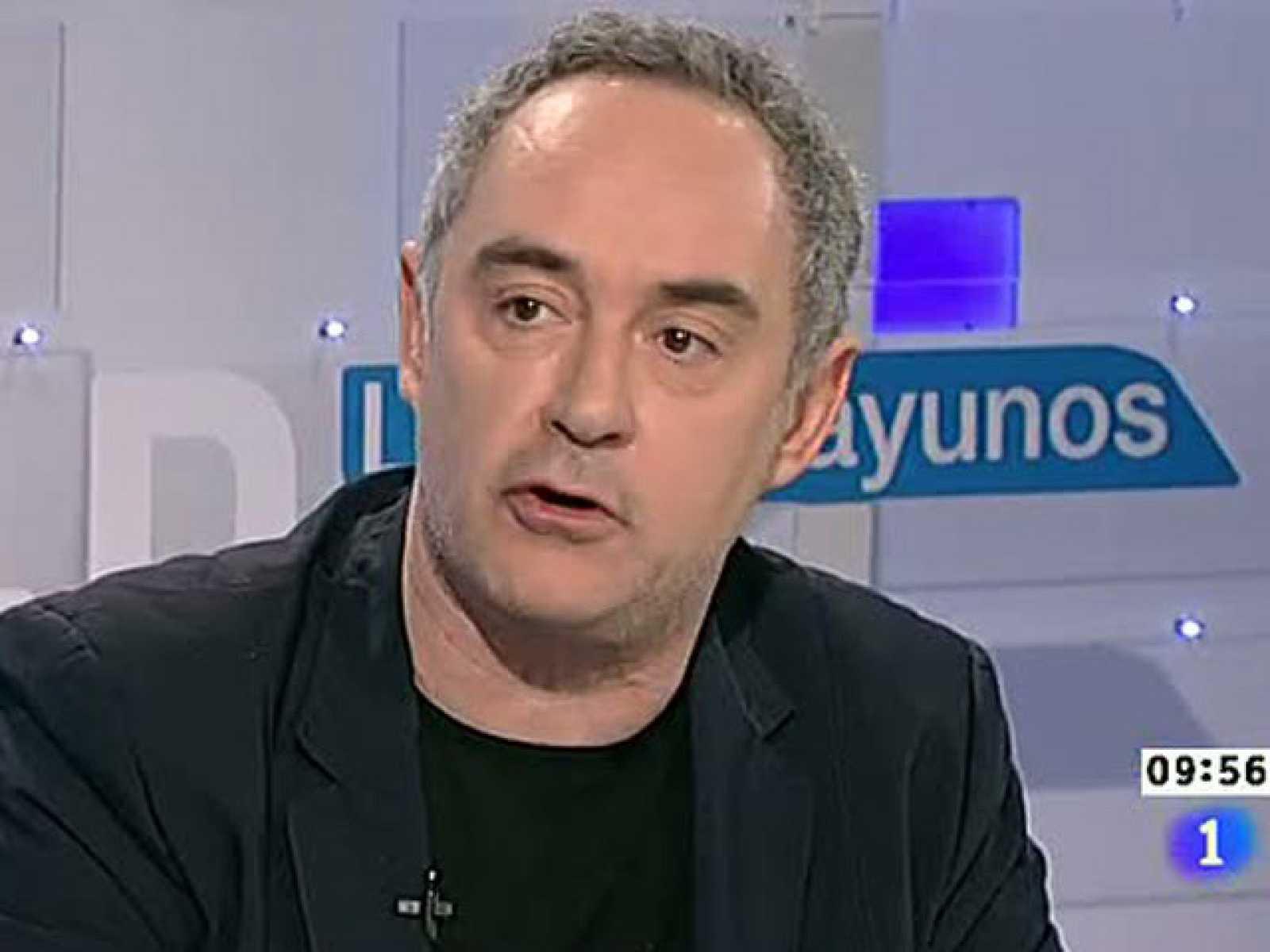 Ferrán Adríà asegura que el problema de los españoles es de 'confianza' en Los desayunos de TVE