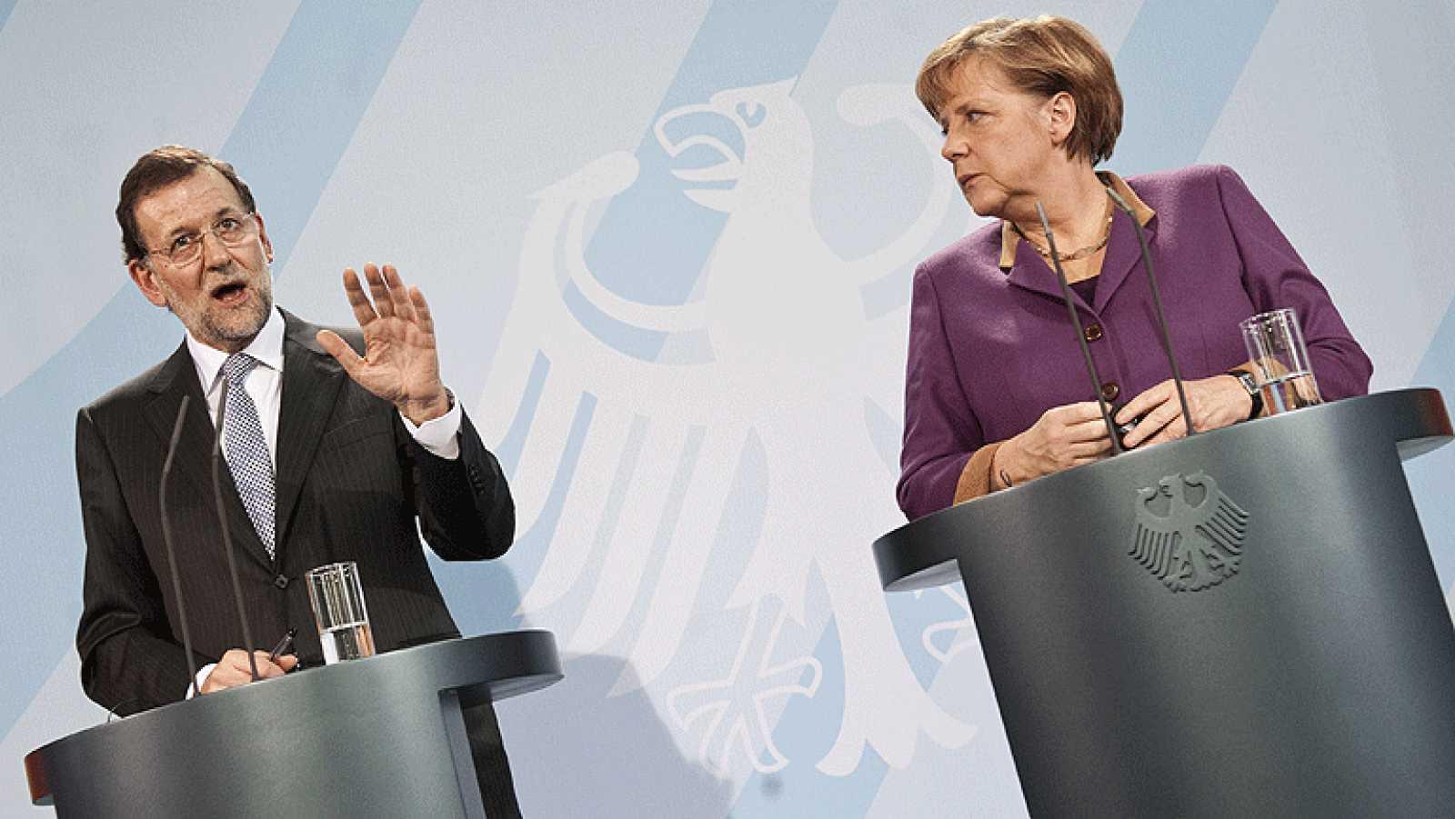 Mariano Rajoy defiende en Berlín ante Angela Merkel las medidas de ajuste del Gobierno