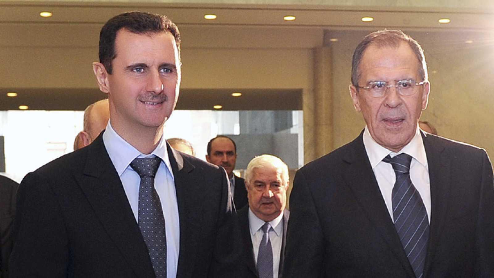 Puesta en escena del régimen sirio para recibir a uno de sus grandes aliados