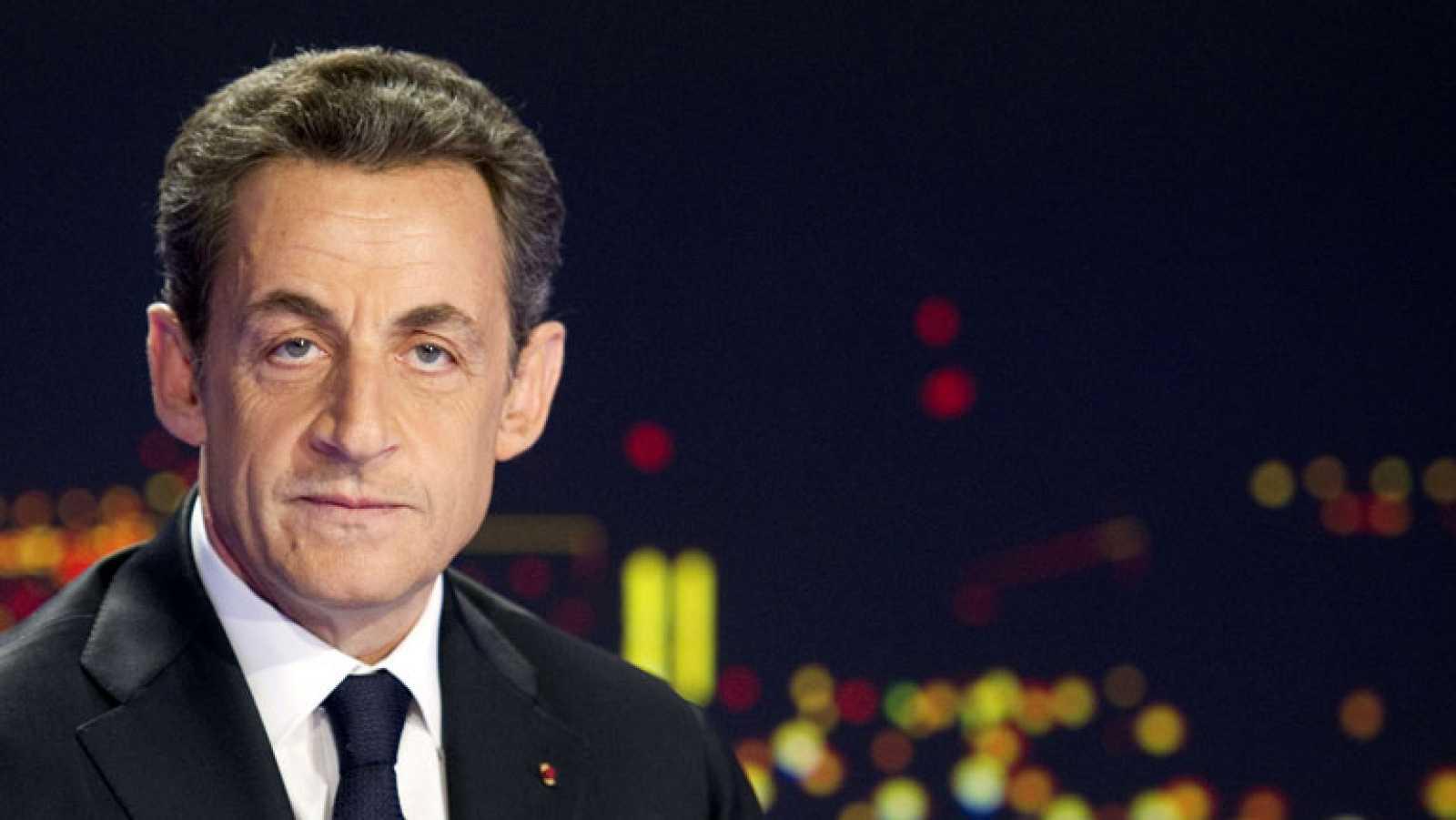 Sarkozy anuncia su candidatura en la televisión francesa