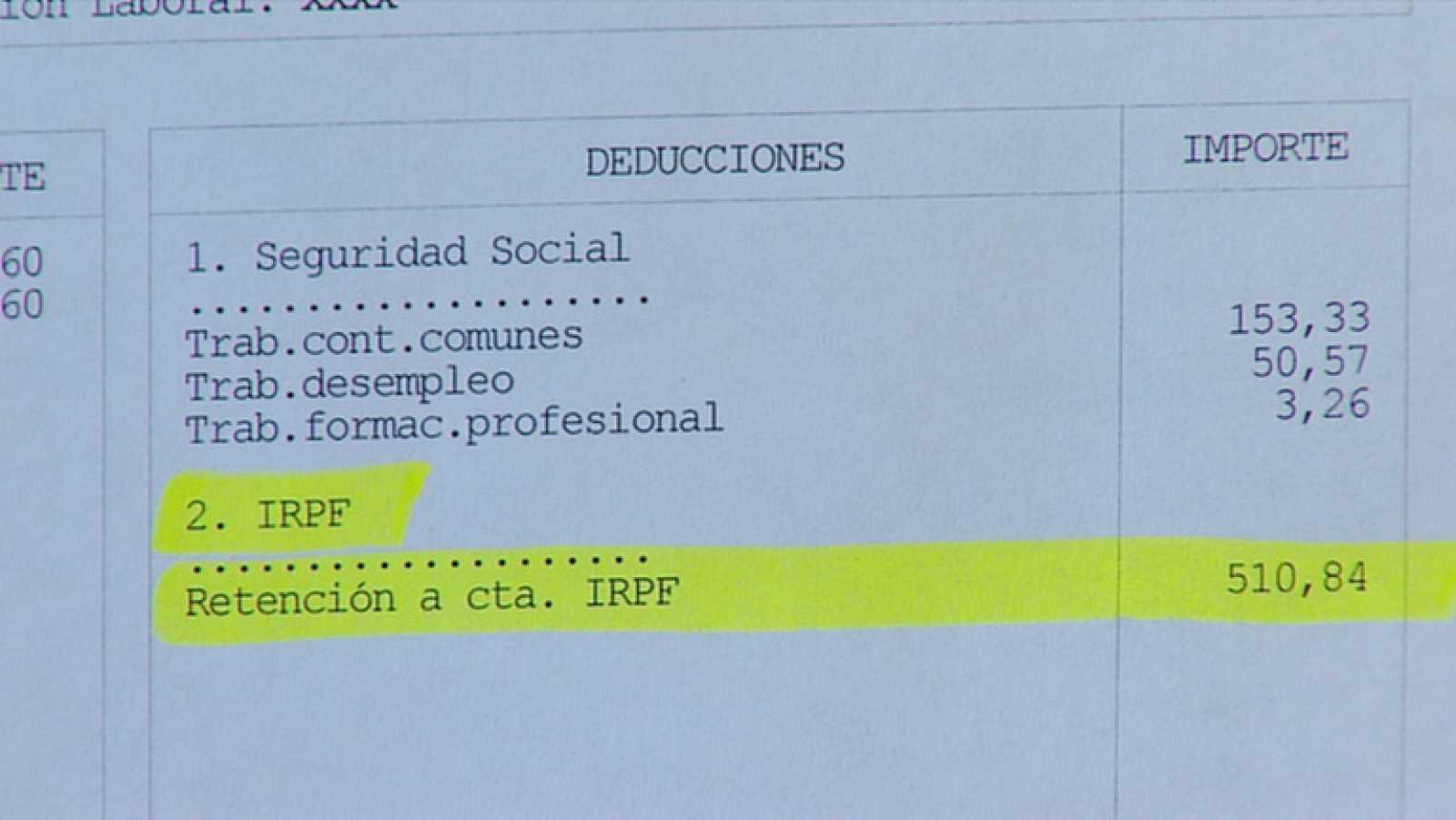 La subida del IRPF nos costará al año unos 290 euros