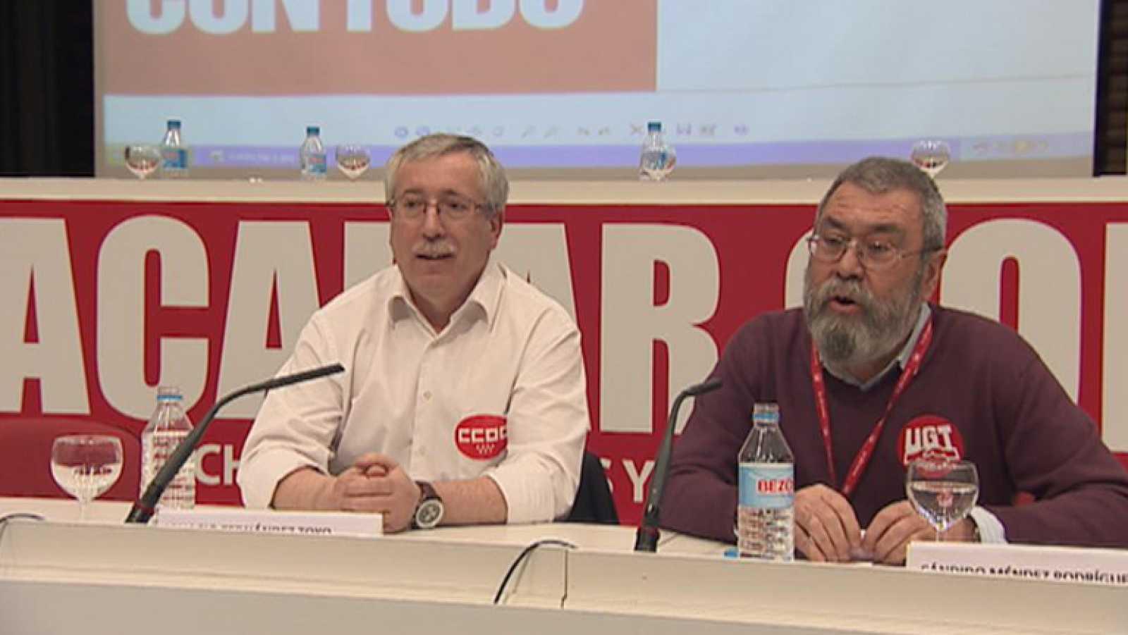 CCOO y UGT han convocado una huelga general el 29 de marzo en contra de la reforma laboral